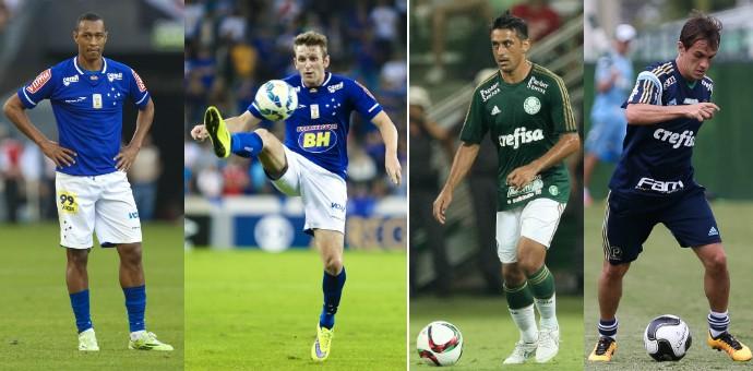 Fabrício e Fabiano deixarão o Cruzeiro e irão para o Palmeiras, que cederá Robinho e Lucas