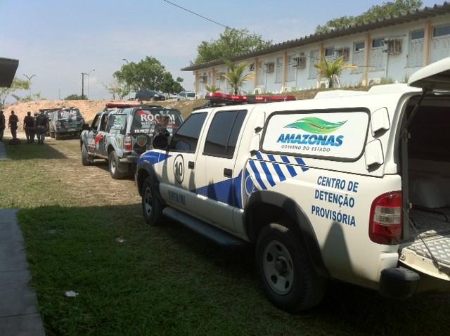 Pelo menos dez policiais militares faziam a segurança do presidiário (Foto: Ana Graziela Maia/G1 AM)