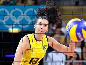 Sheila, Vôlei feminino, Brasil e Japão, Olimpíadas (Foto: Agência AP)