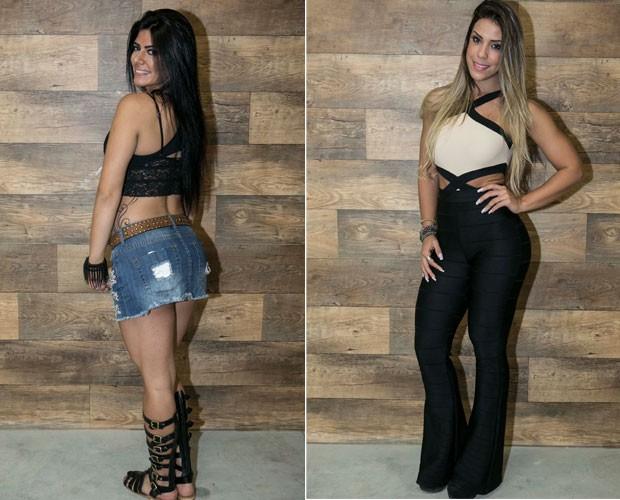 Camila Galante exibe tatuagem nas costas e Sabrina Toledo mostra look poderoso (Foto: Fabio Rocha/ Gshow)
