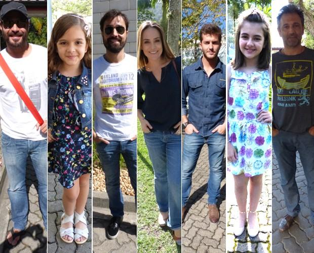 Estrelas da TV exibem look primavera nos bastidores do Projac (Foto: Vídeo Show/TV Globo)