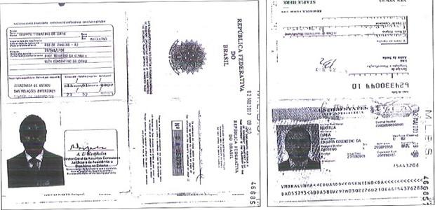 Passaporte de Eduardo Cunha e visto dos Estados Unidos (dir.) no documento (Foto: Reprodução)