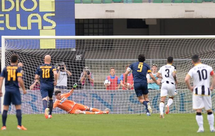 Luca Toni gol, Hellas Verona x Udinese (Foto: Getty Images)