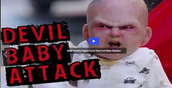 Vídeo do bebê demônio foi o mais buscado pelos brasileiros no Yahoo Vídeos (Foto: Reprodução)