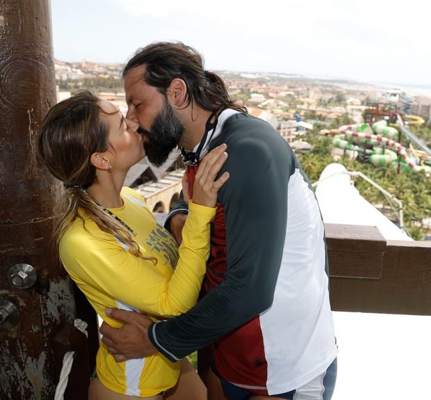 Henri Castelli com a namorada, Maria Fernanda Saad (Foto: Felipe Panfili/Divulgação)