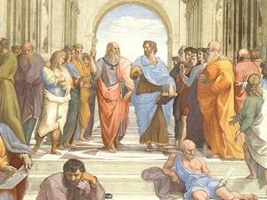 Detalhe da obra 'Escola de Atenas' (Foto: Reprodução)