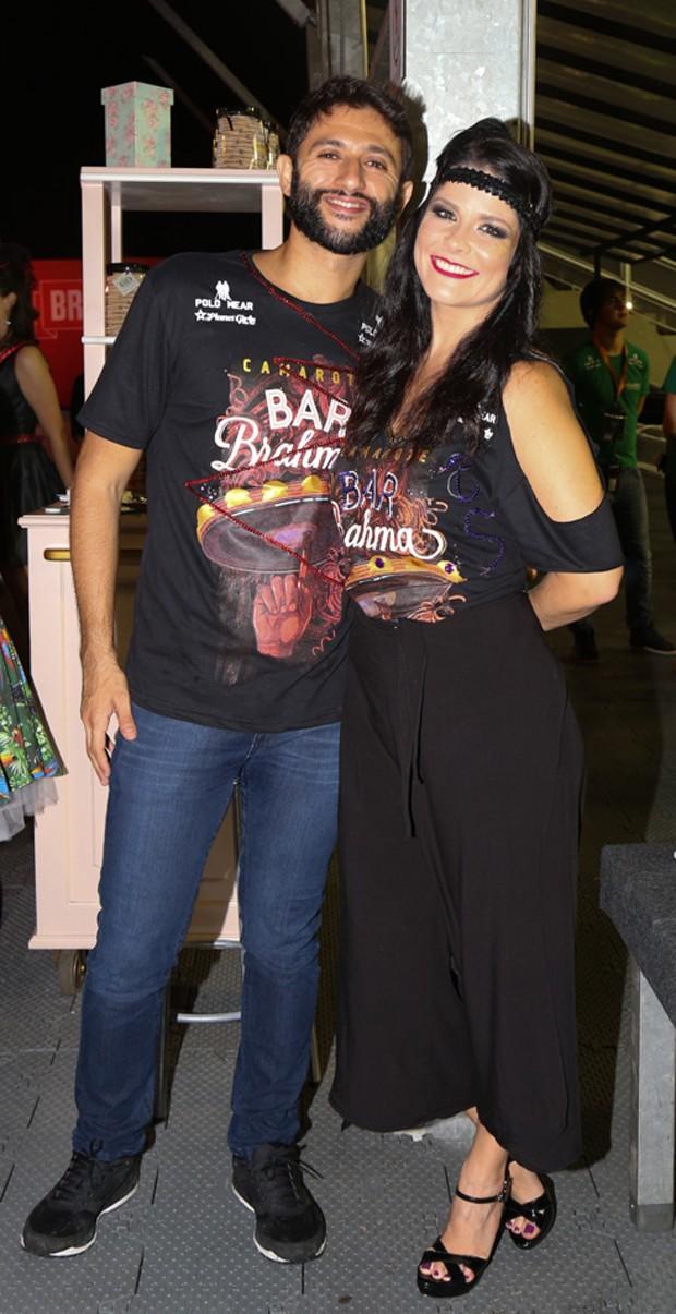 Samara Felippo e Elidio Sanna (Foto: Deividi Correa/ AgNews )