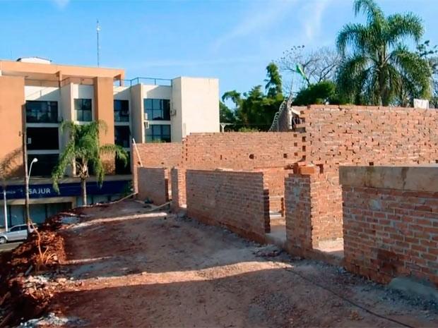 Presídio foi construído por moradores de Lajeado, RS (Foto: Reprodução/RBS TV)