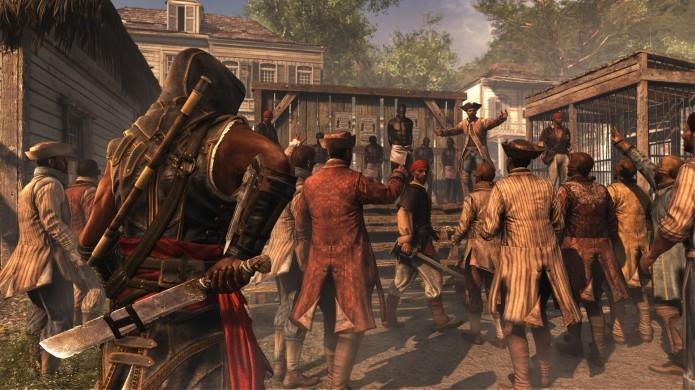 É possível ajudar escravos a serem libertos assaltando leilões (Foto: Reprodução/Forbes)