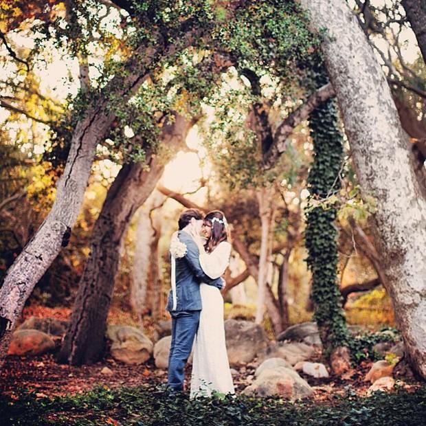 Foto do casamento de Fernanda Machado e Robert Riskin na Califrnia (Foto: Arquivo Pessoal)