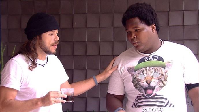 Tamiel não quer ressentimentos com Ronan (Foto: TV Globo)