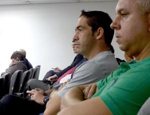 Chicão no STJD (Foto: Sofia Miranda)
