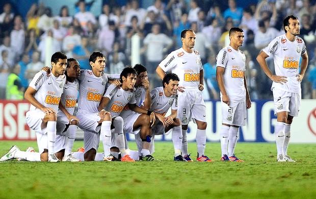 Jogadores do Santos, Santos x Velez (Foto: Marcos Ribolli / Globoesporte.com)