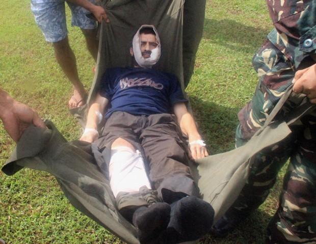 Suíço ficou quase 3 anos sob poder de grupo extremista (Foto: Forças Armadas das Filipinas/AP)