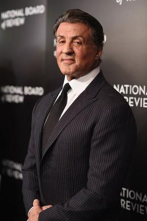 Sylvester Stallone em evento em Nova York, nos Estados Unidos (Foto: Dimitrios Kambouris/ Getty Images/ AFP)