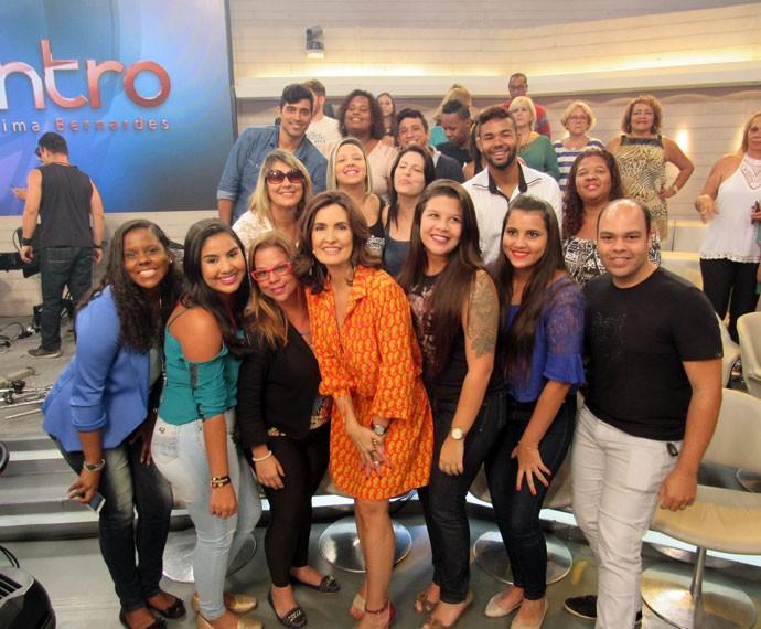 Foto da plateia com a Fátima (Foto: Viviane Figueiredo Neto/Gshow)