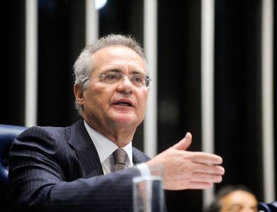 O presidente do Senado Renan Calheiros (Foto: Geraldo Magela/Agência Senado)