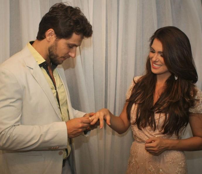 Eliéser e Kamilla durante o noivado (Foto: Arquivo pessoal)