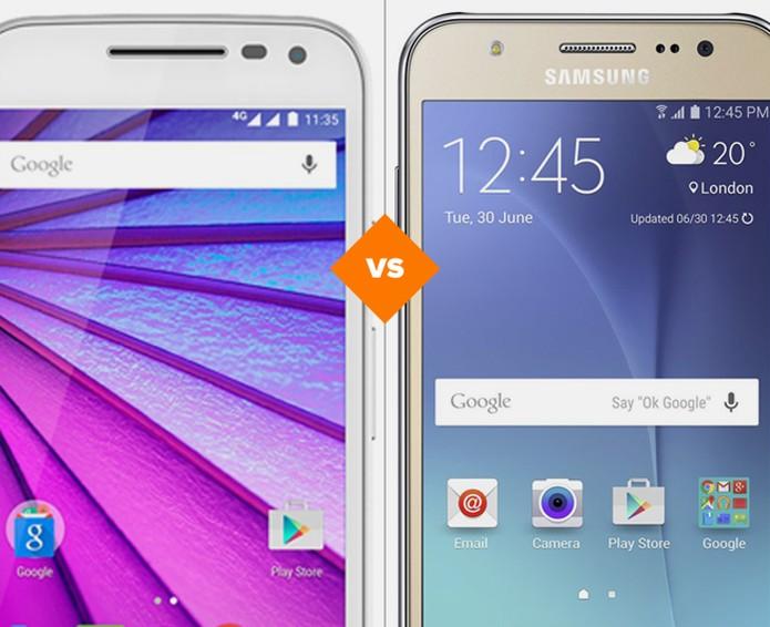 Moto G 3 ou Galaxy J5: qual celular tem a melhor ficha técnica (Foto: Arte/TechTudo)