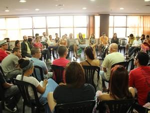 Uma das atividades desenvolvidos na 'Ocupação Cultural' (Foto: Felipe Campos / Divulgação Protesto GV)