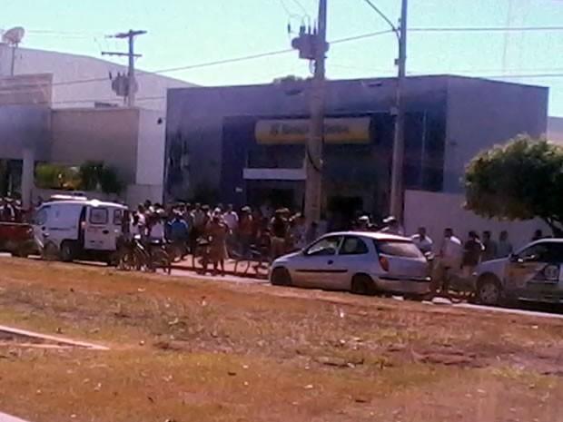 Roubo a banco em Campos de Júlio (Foto: Tassiany dos Santos/Arquivo pessoal)