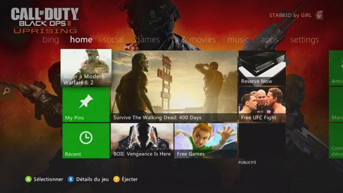 A série Call of Duty tem vários temas para Xbox 360 (Foto: Reprodução/Youtube)