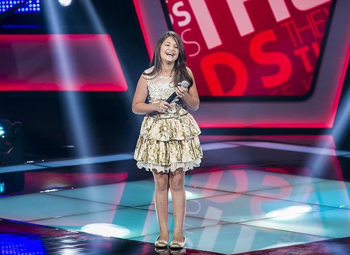 Kaliny Rodrigues solta a voz em Audição (Foto: Isabella Pinheiro/Gshow)