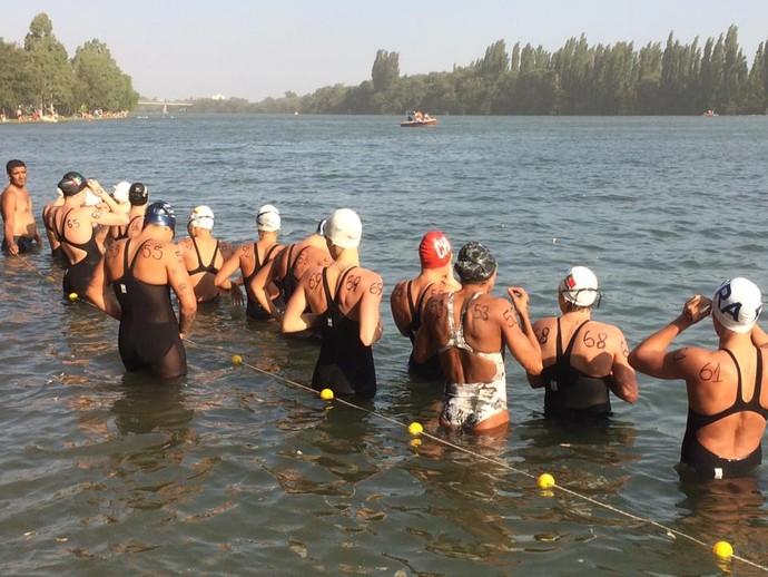 Prova feminina teve participação de atletas de 17 países (Foto: Divulgação)