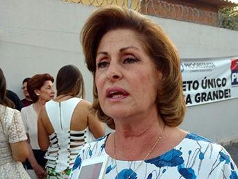 DEM oficializa prefeita Lucimar Campos como candidata à reeleição em Várzea Grande (Foto: Lislaine dos Anjos/G1)