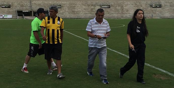 Botafogo-PB, Kashima, Baza, Gleide Costa, Marcos Lima (Foto: Lucas Barros / GloboEsporte.com)