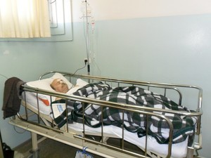 Manoel Pinheiro está internado há seis dias em Piracicaba (Foto: Cassia Brigatti/arquivo pessoal)