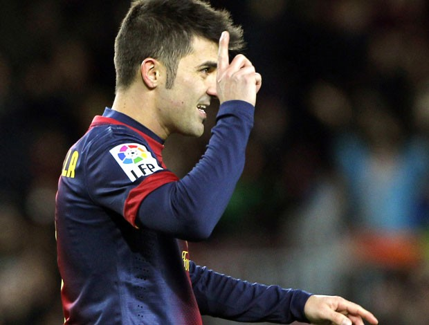 David Villa, Alaves e Barcelona (Foto: Agência Reuters)