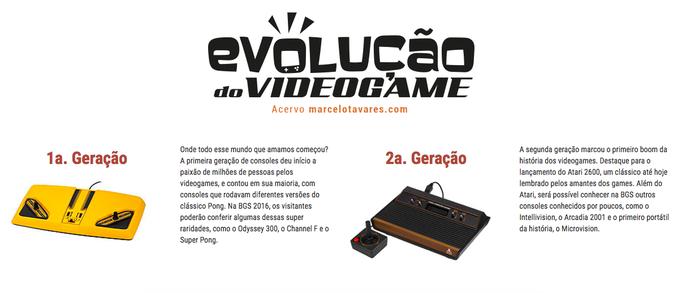Evolução do Video Game na BGS 2016 (Foto: Divulgação/BGS)