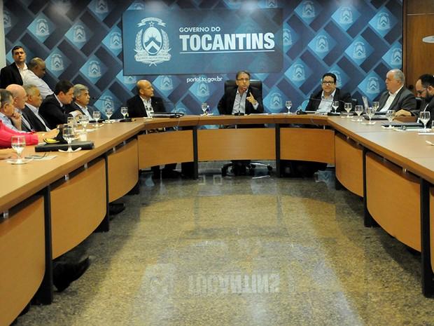 Marcelo Miranda e secretariado realizaram reunião para definir ajustes no governo  (Foto: Elizeu Oliveira/Secom/Divulgação)