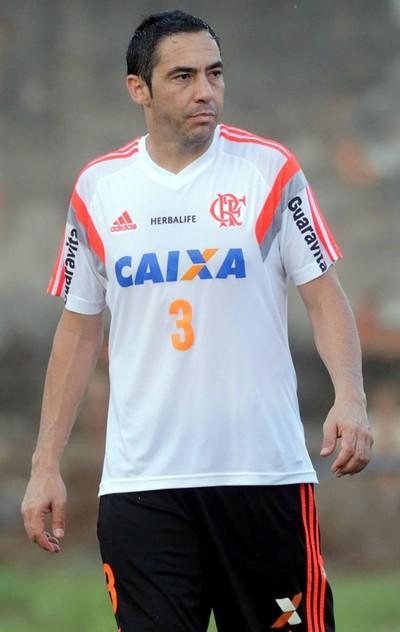 Chicão e Alecsandro no treino do Flamengo (Foto: Cezar Loureiro / Agência O Globo)