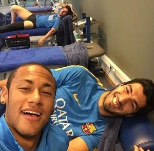 Neymar, Messi e Suárez (Foto: Instagram)