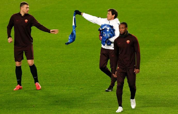 Dzeko Keita Roma Camp Nou (Foto: EFE)