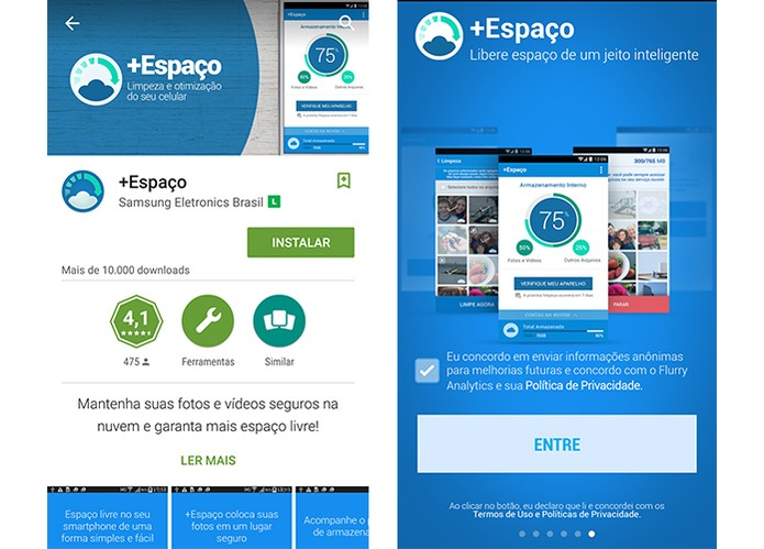 Samsung lança +Espaço, app para otimizar memória do celular (Foto: Reprodução/Barbara Mannara)