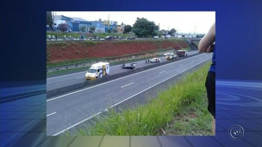 Carro capota na SP-127 em Cerquilho e quatro pessoas ficam feridas