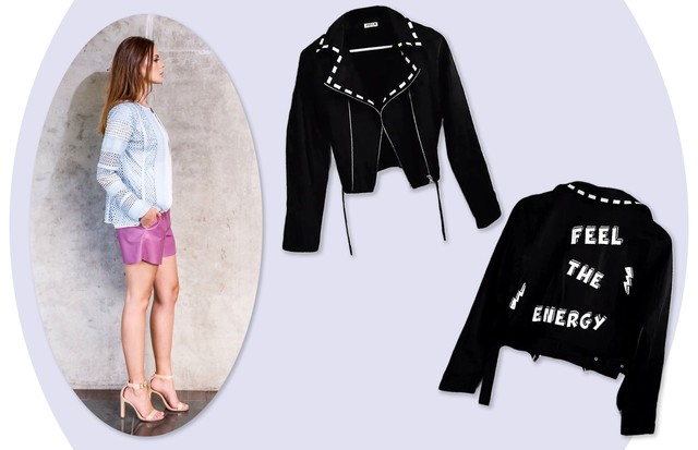 Liziane Richter: jaqueta da nova label Mila + (Foto: Arte Vogue Online)