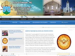 Hackers invadem site da Diocese de Campanha. (Foto: Reprodução)