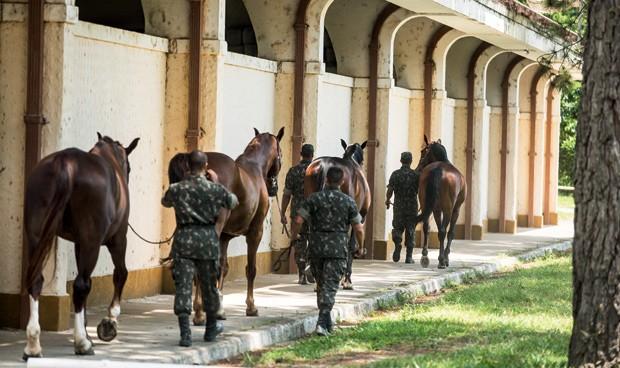 Instalações da Academia Militar das Agulhas Negras  (Foto: Luiz Maximiano)