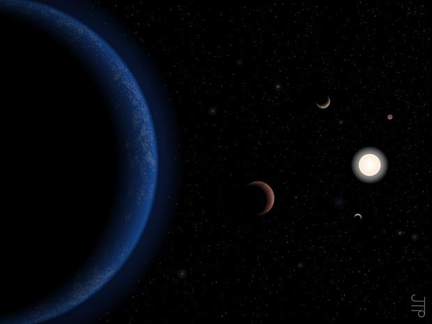 Estrela Tau Ceti (Foto: Universidade de  Hertfordshire/Divulgação)