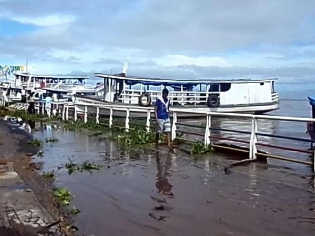 Cheia em Juruti (Foto: Reprodução/TV Tapajós)