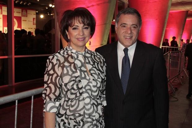 Tony Ramos e esposa (Foto: ISAC LUZ/EGO)