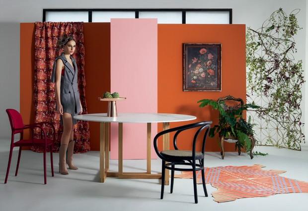 Décor do dia: como decorar uma sala de jantar com laranja e rosa (Foto: Rogério Cavalcanti)