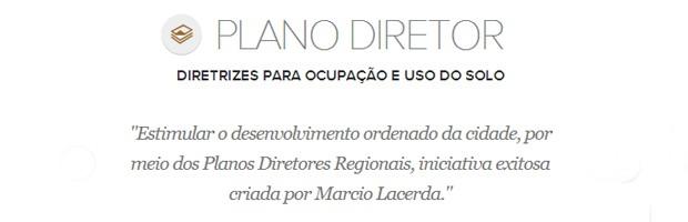 Meta de plano diretor do prefeito de Belo Horizonte, Marcio Lacerda (Foto: Arte/G1)