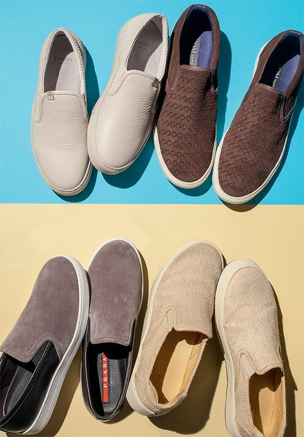 1. Z Zegna R$ 2.010 | 2. Dom Shoes R$ 159 | 3. Prada  R$ 2.670 | 4. Osklen R$ 479 (Foto: Flávio Battaiola)