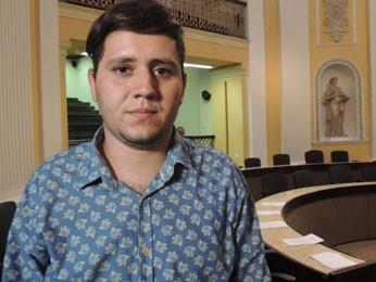 Um dos líderes do movimento LGBT no estado, Felipe Medeiros, lamentou a derrota do projeto (Foto: Luna Markman/G1)