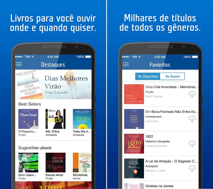 App AudioBook permite que clientes da TIM ouçam livros de onde quiser (Foto: Divulgação)